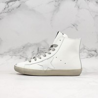 Golden Goose GGDB Francy Zip Sneakers With White Leather Star - Best Online Sale