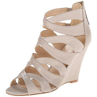 Nine West Womens Leather Cut-Out Wedges