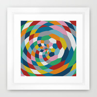 Honey Twist Framed Art Print by Project M
