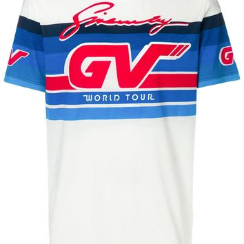 White Vintage Racing T-Shirt by Givenchy