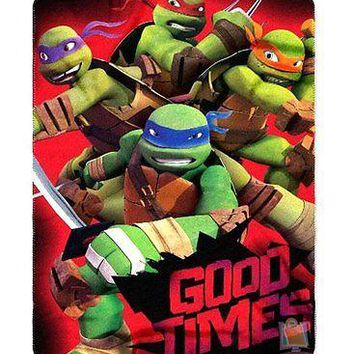 Teenage Mutant Ninja Turtles Good Times 46x60 Soft Fleece Throw Blanket