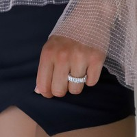 Give A Lot Gold Rhinestone Ring