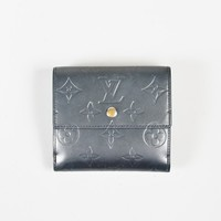 "Louis Vuitton ""Gris Art Deco"" Monogram Mat ""Vernis"" Leather ""Elise"" Wallet"