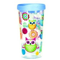 Owls 16 oz. Double Walled Insulated Reusable Tumbler