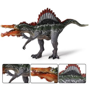 Oenux Jurassic Dinosaur Carnivorous S. marocannus Open Mouth Dinosaurs Animals Model Action Figures Collection Toy For Kid Gift