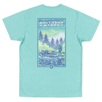 Relax and Explore - Trail Tee in Washed Kelly by Southern Marsh