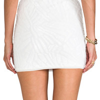 BCBGMAXAZRIA Paxton Sequin Skirt in White