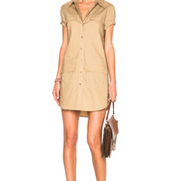 Equipment Remy Utility Dress in Kelp | FWRD