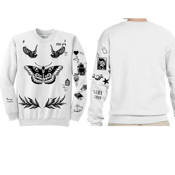 Harry Styles Tattoo Updated !!  Butterfly-- Ultra soft crewneck sweatshirt  ! sweater jumper