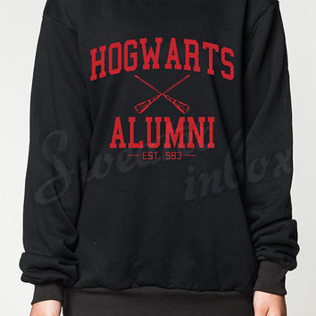 Hogwarts Alumni Sweatshirt Harry Potter Movie Women Sweater Black Shirt T-Shirt Jumper Unisex Size S M L