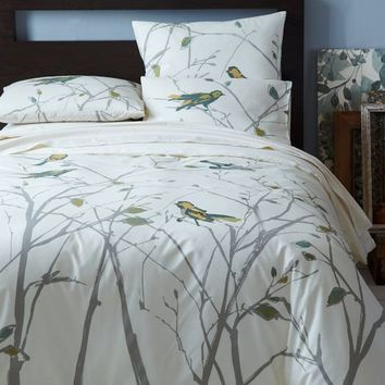 Organic Sparrow Song Duvet Cover + Shams