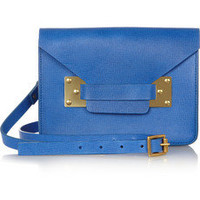 Sophie Hulme | Envelope mini textured-leather shoulder bag | NET-A-PORTER.COM