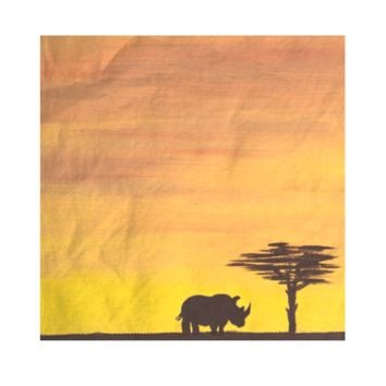 African Rhino at Sunset