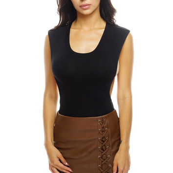 Kaya Lace-Up Leather Skirt - Brown