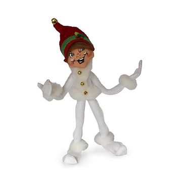 Annalee Dolls 9in 2018 Christmas Jinglebell Elf White Plush New with Tags