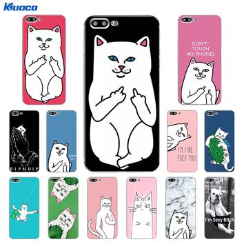 DIY For Apple iPhone 7 / 8 Plus 10 Phone Case For iPhone X 5C 5S SE Shell Soft TPU For iPhone 6S Plus Cover Finger Cat Printing