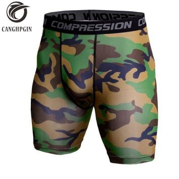 Mens Running Shorts Camouflage Bermuda Shorts Men Compression Shorts Fitness Tights Bodybuilding Short Leggings Gym Sportswear