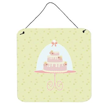 Decorated Cake on Green Wall or Door Hanging Prints BB7306DS66