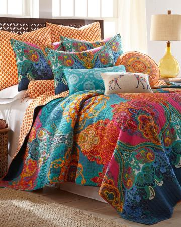 Mackenzie Scroll Print Luxury Quilt From Stein Mart
