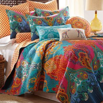Mackenzie Scroll Print Luxury Quilt Collection Bed Bath Stein Mart