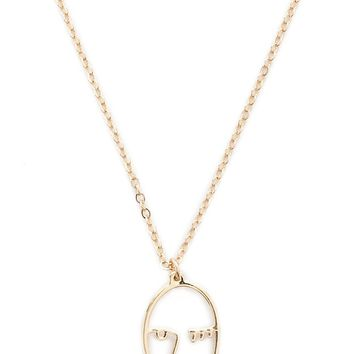 Face Pendant Necklace
