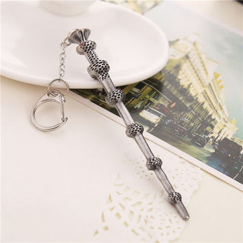 Vintage Harry Potter Inspired Wand Key Chain - Dumbledore