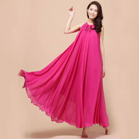 New summer Maternity Dresses Long Chiffon Bohemian Dress Clothes For Pregnant Women Maternidade Pregnancy Clothing Mother Wear
