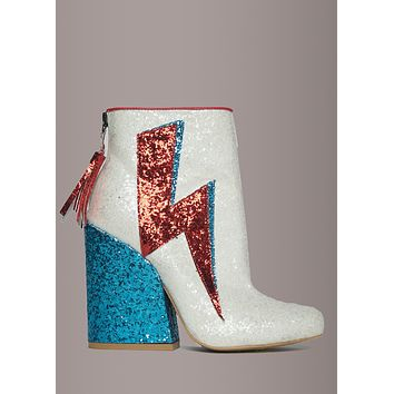 Y.R.U. ZIGGY Glitter Ankle Boots