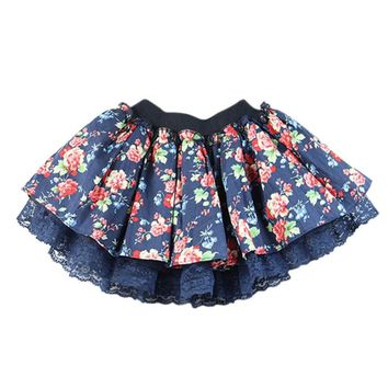 Stylish Baby Kids Girls Floral Lace Tutu Skirt Flower Princess Party Mini Cake Skirt L07