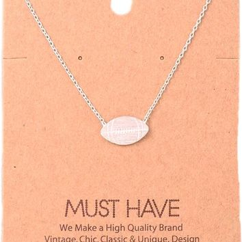 Must Have-Football Pendant NeckLace, Silver