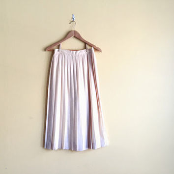 Vintage 90s Long Pleated Wool Skirt