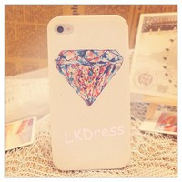 Colorful Diamond Print Case for iPhone 4