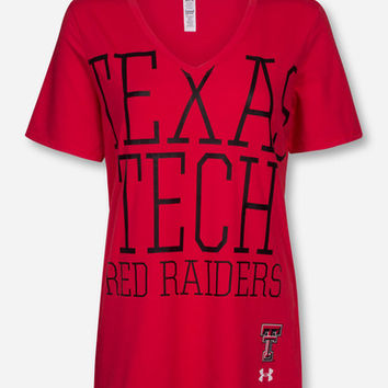 Under Armour Texas Tech Red Raiders Charged Cotton Red V-Neck