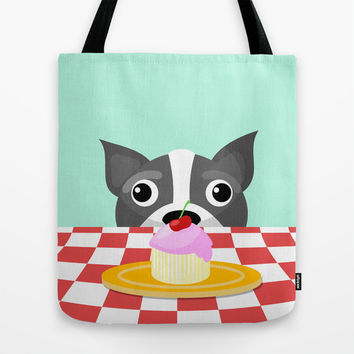 Dog and Cupcake Tote Bag by Rachel O's