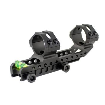 Tactical 30mm Dual Ring Cantilever Heavy Duty Scope Mount with Bubble Level Fits 20mm Rail Hunting Accessories