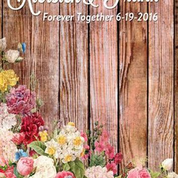 Custom Rustic Wedding Shower Backdrop Floral Flower Background - C082