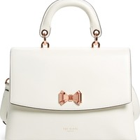 Ted Baker London Lady Bow Flap Top Handle Leather Satchel | Nordstrom