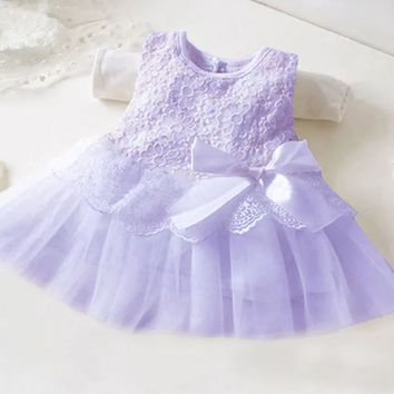 Purple Lace Tutu Dress! 3-6 Months