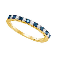 Blue Diamond Fashion Ring in 10k Gold 0.25 ctw