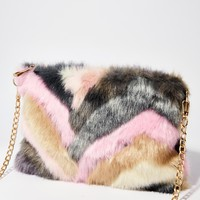 Blush Keep It Movin' Fuzzy Bag