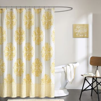 Ink+Ivy Melbourne Cotton Printed Shower Curtain--2 Color Options | Overstock.com Shopping - The Best Deals on Shower Curtains