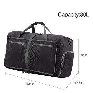 Sports gym bag 80L Large Travel Duffel Bag For Women & Men Foldable Duffle For Luggage Gym Sports Water Resistant Nylon KO_5_1