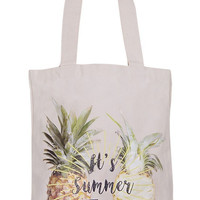 Summer Time Pineapple Tote Bag
