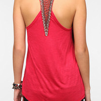 Urban Outfitters - Sparkle & Fade Bead-Embellished Racerback Tank Top