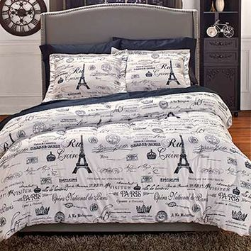 Vintage Paris Comforter Set or Curtains