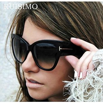 2016 New Fashion Cat Eye tf Sunglasses Women Brand Designer Vintage Luxury Street Snap Sun Glasses Oculos De Sol Feminino Gafas