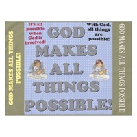 God Makes All Things Possible! Tablecloth
