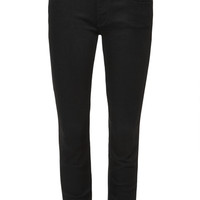 Mother Denim The Looker Cropped Skinny Jeans Black