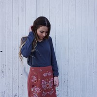 Don't Stop the Party Skirt - Marsala