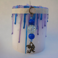 IMPROVE-HEALTH-CANDLE-2-Free-Gifts-Good-Health-Talisman -winged dragon charm- relax more energy improve health healing Chakra Colors